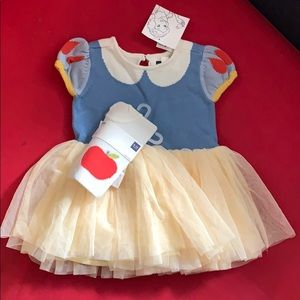 Gap Snow White dress 6-12mo with apple tights NWT